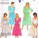 90's Simplicity Sewing Pattern 7000 Drop Waist Full Skirt Dress Size 14, 16, 18, 20, 22 Plus UNCUT