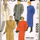 1980's McCalls Sewing Pattern 9229 Fall Winter Coat and Belt Plus Size 22 UNCUT