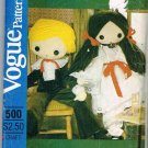 "Vogue Craft Sewing Pattern 500 Large 32"" Boy and Girl Doll with Clothes UNCUT"