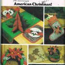 80's Butterick Craft Sewing Pattern 4012 Christmas Stocking Tree Skirt Basket Wreath UNCUT