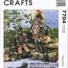 90's McCalls Craft Sewing Pattern 7704 21 inch Frog and Fish Doll Frogs Goin' A Fishin' UNCUT