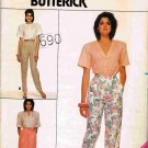 80's Butterick Family Circle Easy Sewing Pattern 3694 Pants and Skirt Size 8 10 12 UNCUT