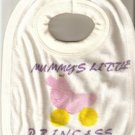 BABY GIRL'S MUMMY'S LITTLE PRINCESS TOWELLING BIB NEW