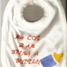 BABY BOYS FUNNY SLOGAN BIB TERRY TOWELLING COTTON NEW