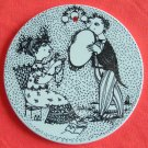 Bjorn Wiinblad plate September black