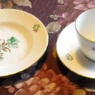 Bing & Grondahl 3 Pieces Green Flower Gold Leaves Denmark