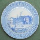 Danish Bing & Grondahl 125 Years Anniversary plate 1853 19 April 1978
