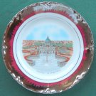 Hutschenreuther Roma Basilica S Pietro Vatican Red & Silver Plate