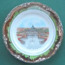 Hutschenreuther Roma S Pietro Green & Silver Plate