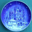 Retsch Germany Christmas Plate 1977 The Cathedral Of Burgos Spain