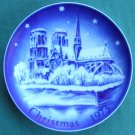 Retsch Germany Christmas Plate 1973 Notre Dame Paris