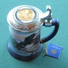 Franklin Mint Monarch of the valley tankard stein mug