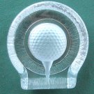 Nybro Swedish crystal glass block golf ball