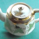 Vintage Price Bros Teapot Gold Leaves England