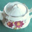 Vintage Arthur Wood floral teapot Red Rose England