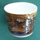 Schulz Porcelain cup Mount St Helens ash glazed 1980