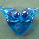 Vintage Cobalt Blue Glass Ron Ray Lovebirds 1988