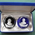 Franklin Mint Bicentennial Collection Cameos paperweights John Paul Jones and Admiral De Grasse