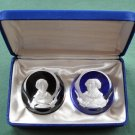 Franklin Mint Bicentennial Collection Cameos Paperweights John Adams Baron De Montesquiew