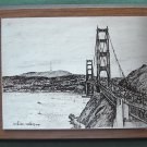 William Radley Golden Gate engraving plate by Quido Herman