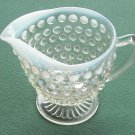 VINTAGE ANCHOR HOCKING HOBNAIL MOONSTONE GLASS CREAMER