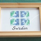 Sweden 4 block 2.80 KR stamps framed