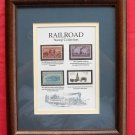 Railroad Stamp Collection Framed USA