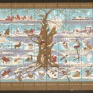 Danish Christmas Seals Stamps Denmark Full Sheet JUL 1960 DANMARK