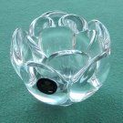 Danish Royal Copenhagen Crystal glass Lotus flower candle holder