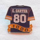 C Carter NFL Jersey Uniform Enameled Metal Tie Tack Pin