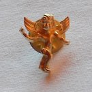 Vintage Guardian Angel No 1 Gold Tone Metal Tie Tack Pin