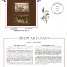 Winslow Homer US Postage 4 Cents Stamp and 22KT Gold Replica