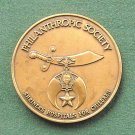 Bronze Tone Medal Philanthropic Society Shriners Donor Recognition