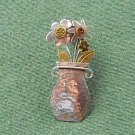 Far Fetched Flower Vase Pin