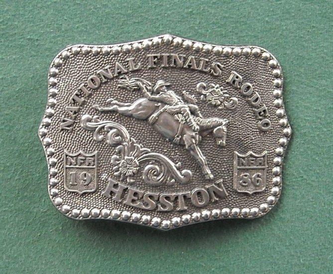 NFR National Finals Rodeo Hesston Vintage belt buckle