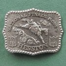 Vintage NFR National Finals Rodeo Hesston belt buckle