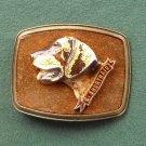 Vintage G. Shorthair Raintree belt buckle