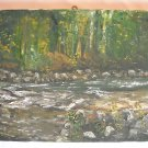 Original oil painting Salmon River signed