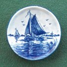 Vintage Delft Blauw Handpainted Boat plate Holland