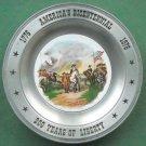 America's Bicentennial Plate Surrender Of Cornwallis Sebring Pewter