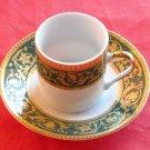 Vintage Tirschenreuth Bavaria Green Tiger Yedi cup and saucer