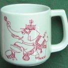 Bjorn Wiinblad Nymolle Elephant Circus Cup Mug