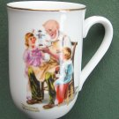 Norman Rockwell Museum The Toymaker cup mug 1982