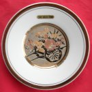 Art of Chokin Japan 24 K gold Flower cart wall plate