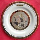 Himark Art of Chokin Japan 24 K gold Flower Butterfly wall plate