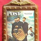 Beams Bicentennial Norman Rockwell Saturday Evening Post April 23, 1949 decanter