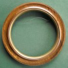Round solid hardwood plate frame for wall displays