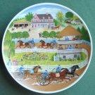 Vintage JKW Bavaria Josef Kuba Porcelain plate Spring