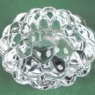 Swedish Anne Nilsson Orrefors Sweden Hallon Raspberry Votive Crystal Glass Candle Holder