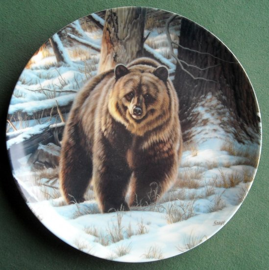 Dominion The Grizzly Bear Wild and Free Paul Krapf plate 1988
